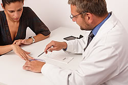 Sleep Physician Consultation Examining and Explaining Results of Sleep Disorder Tests